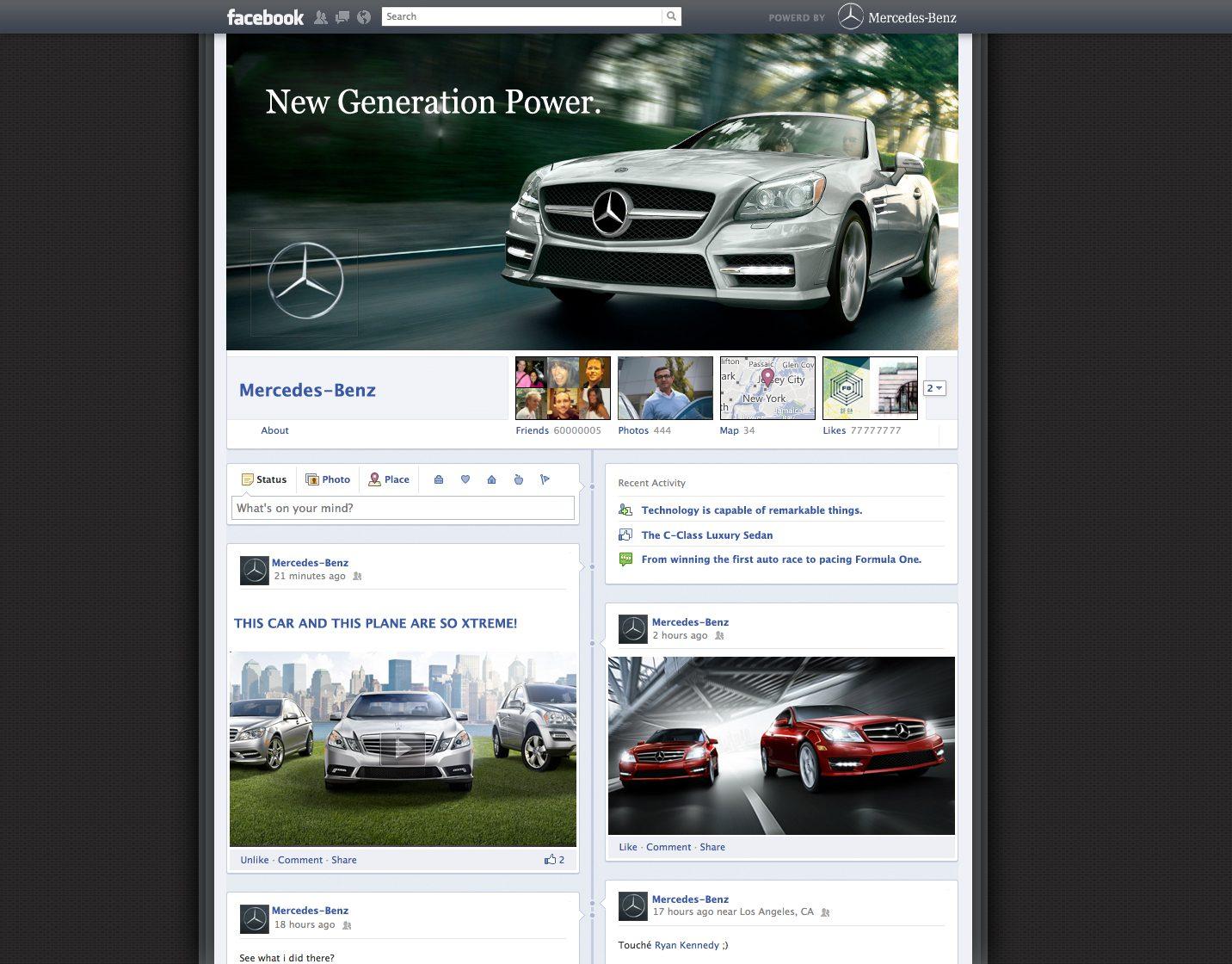 mercedes facebook timeline fanpage